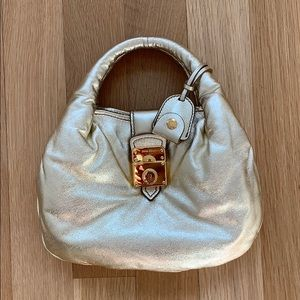 Miu Miu Gold Metallic Bag